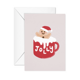 Jolly Christmas with Gingerbread Man Card