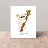 Austrailian Wildlife Rescue Donation Fundraiser Koala illustration thank you card