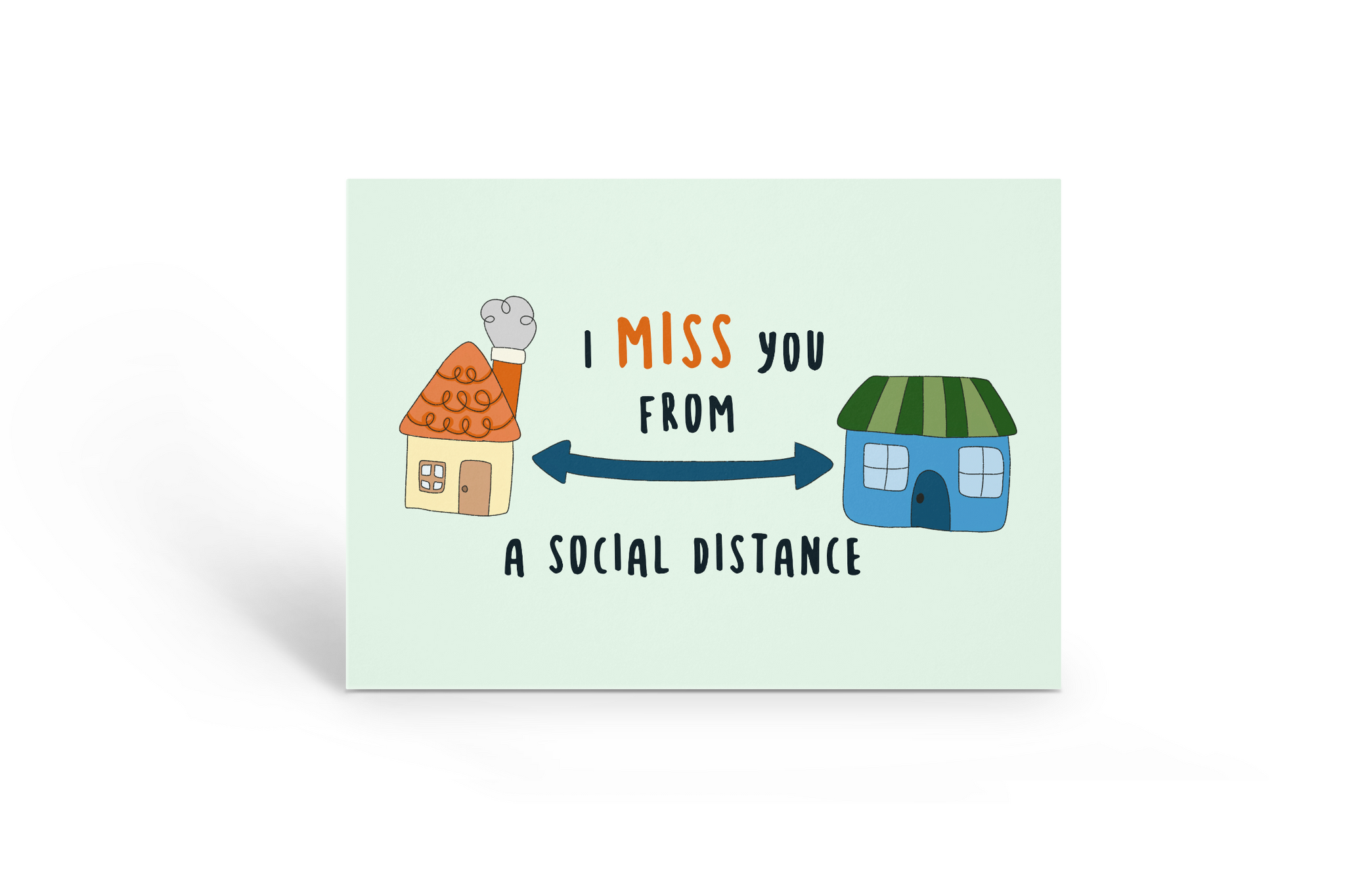 I misse you from a social distance Card