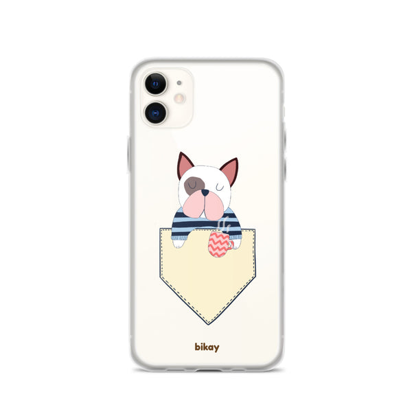 French Bulldog in a pocket iPhone Case
