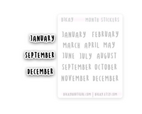 Month of the year sticker