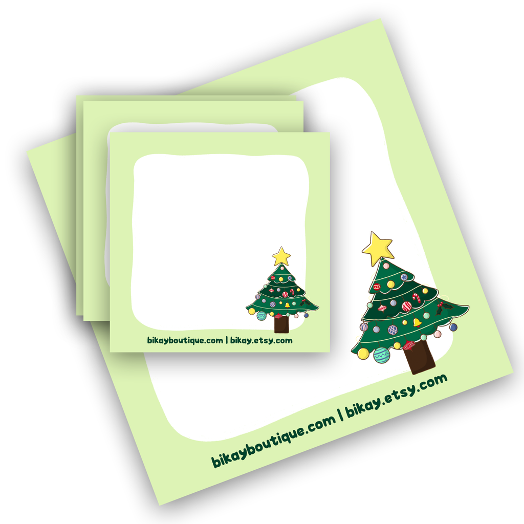 "Oh Christmas Tree Note Pad 3.5""x3.5"""