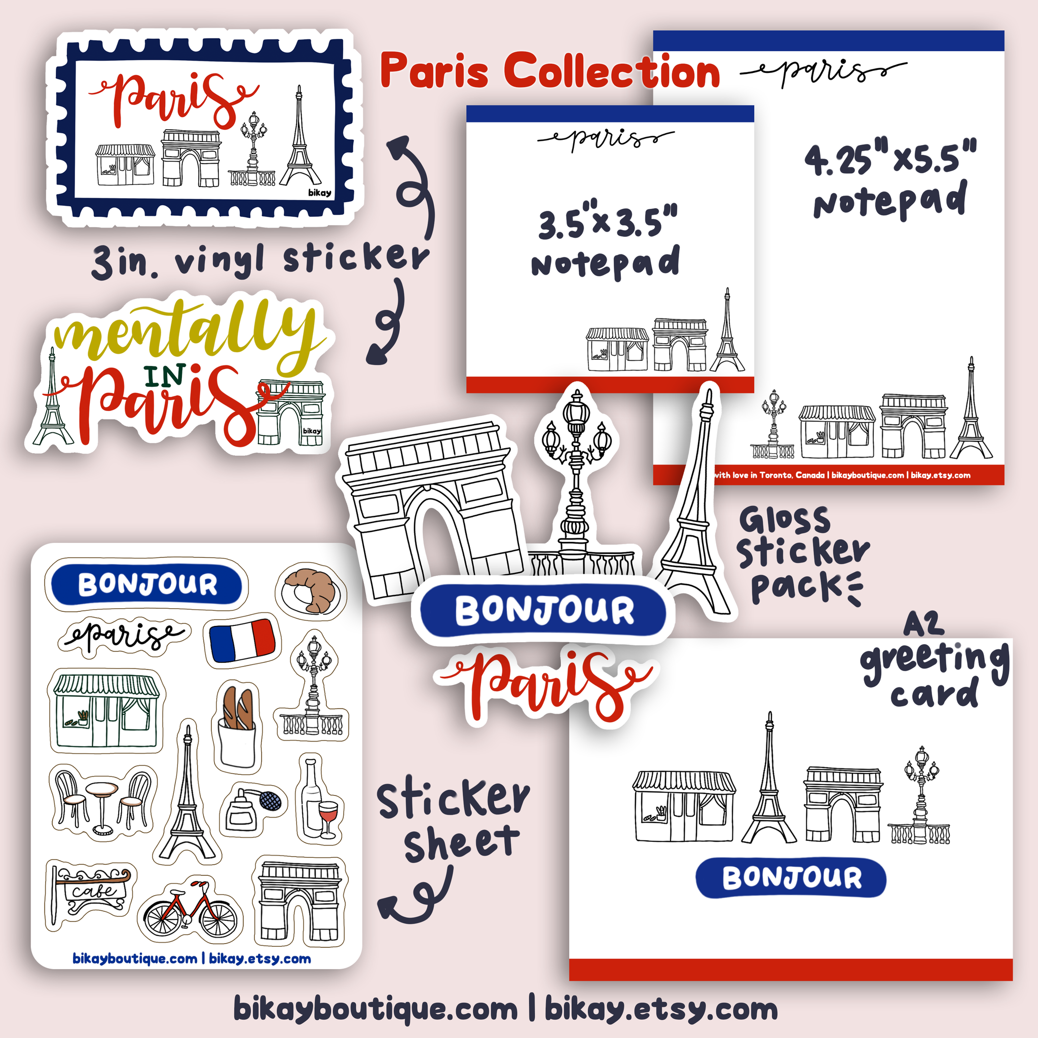 "Paris Notepad 3.5""x3.5"""