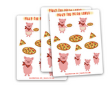 Piggy the Pizza Lover Sticker Sheet