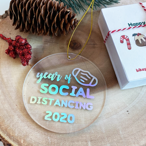 Year of Social Distancing Christmas Ornament
