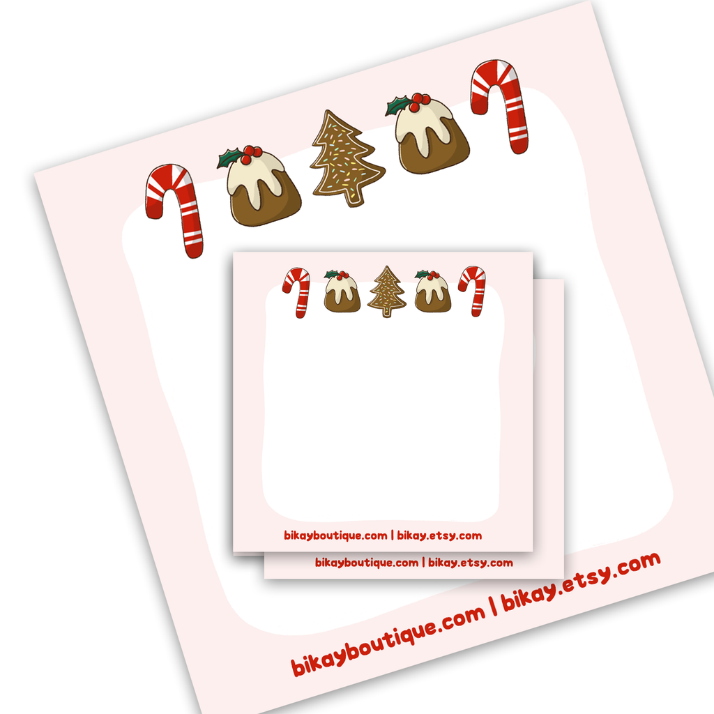 "Christmas Sweets Note Pad 3.5""x3.5"""
