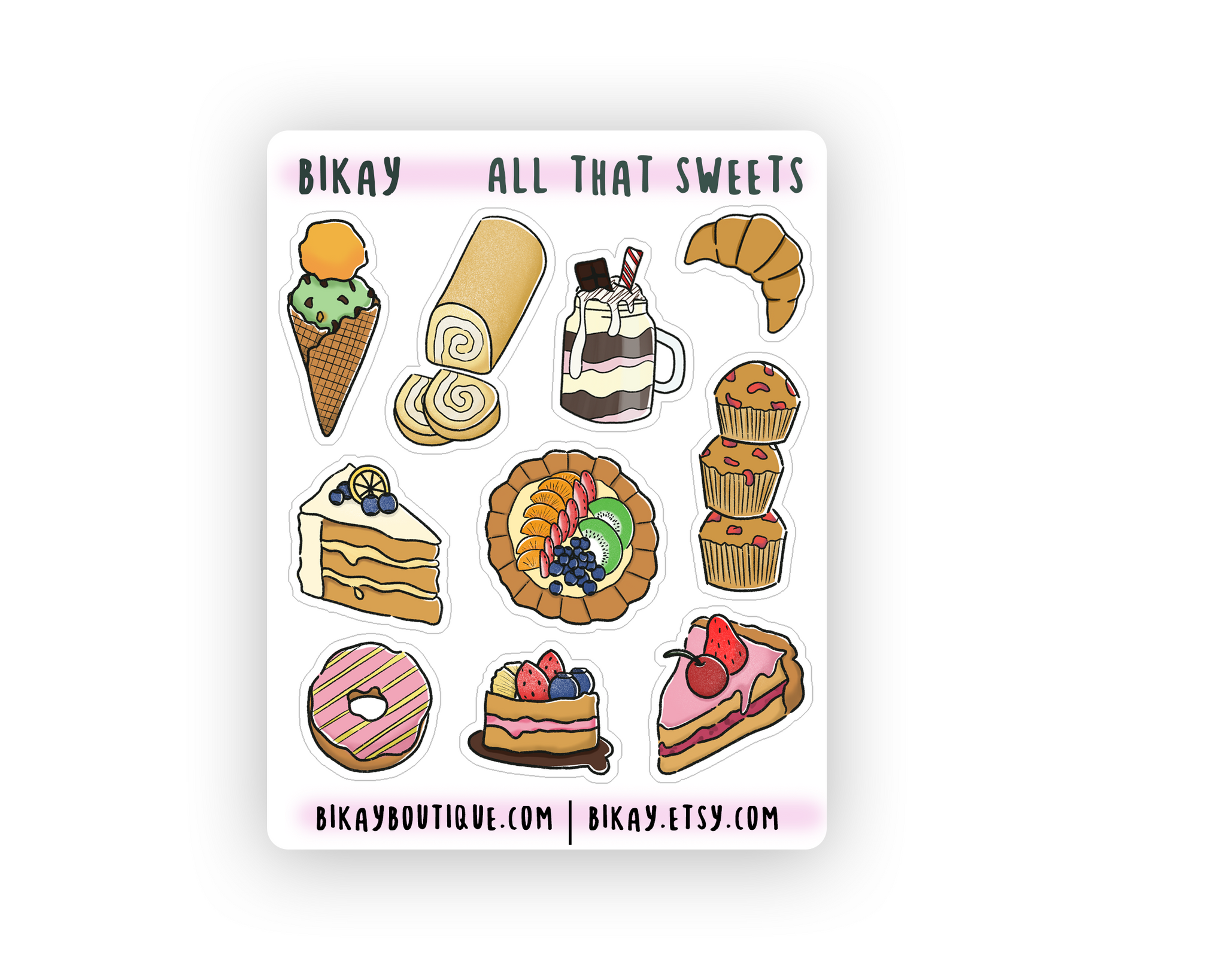All that Sweets Sticker Sheet