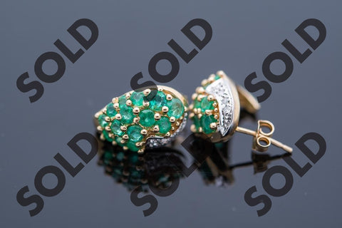 Beautiful 14 Karat Emerald Earrings