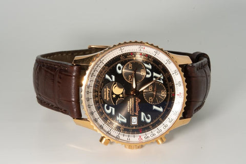 The Breitling Montbrilliant Eclipse Moonphase Watch in 18 Karat Rose Gold.