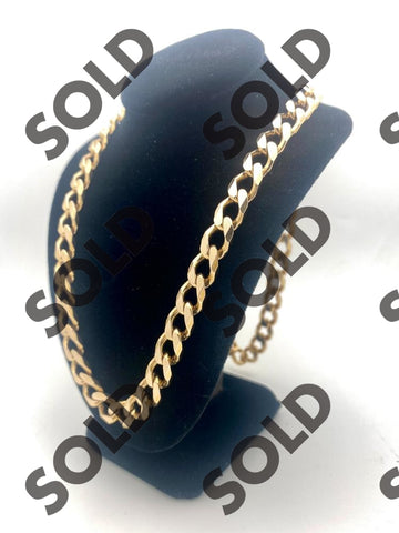 A large 10Kt gold chain for sale at Nicol Street Pawnbrokers