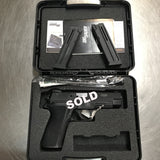 The Sig Sauer P226 22LR comes with 2 ten round magazines, cable action lock and carrying case