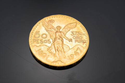 1947 50 Peso Gold Coin containing 37.50 grams of pure gold