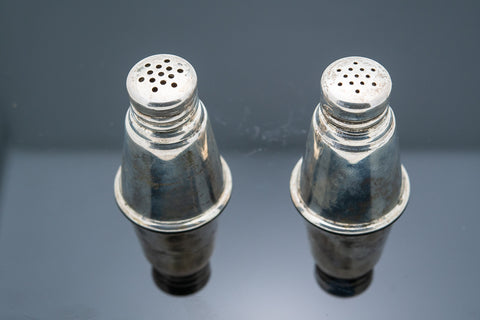 International Silver  Salt and Pepper shakers made between the 1940s and 1950s