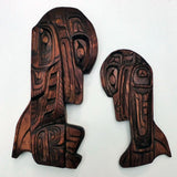Hand carved by Gino Seward Coast Salish and Kwaikuitl artist living in Nanaimo British Columbia