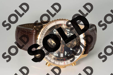 The Breitling Montbrilliant Eclipse Moonphase Watch in 18 Karat Rose Gold. SOLD