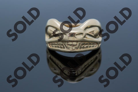 Sea Otter ring by Kwakuitl artist David Neel of Fort Rupert British Columbia