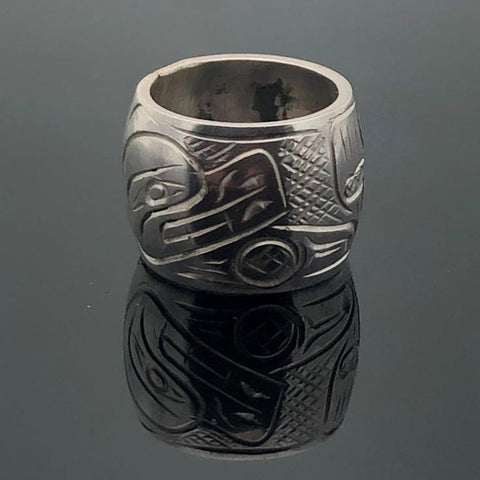 Beautifully hand carved in Sterling Silver by Coast Salish artist Graham HenrySpirit Bead