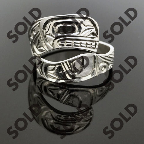 Sterling Silver Orca Wrap Ring Jewellery