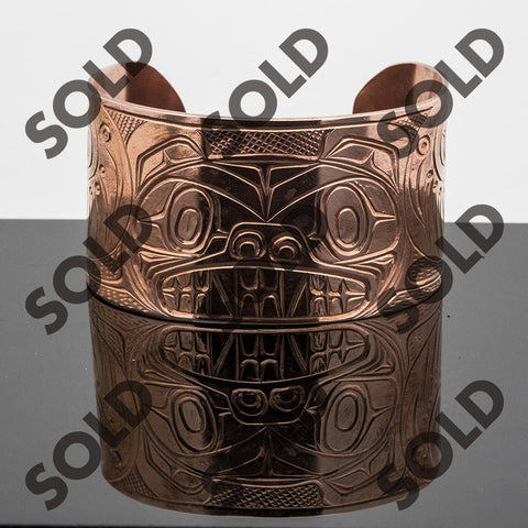 Bracelet carved by kwakuitl artist Solomon Seward
