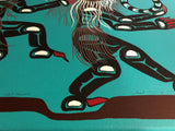 Spirit Dancers The transformation of life signed by the artist Fred Anderson of Rivers Inlet, B.C.