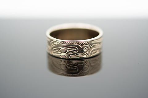 14 karat Native Design Band