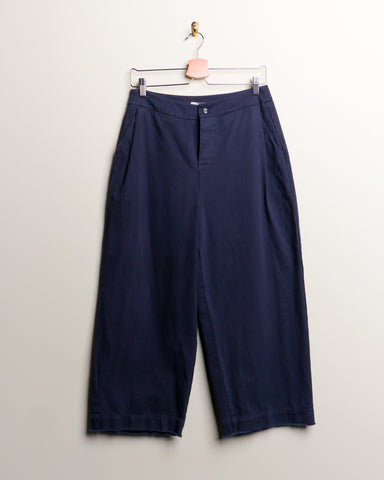 Hackwith Raw Finish Wide Leg Denim Trouser