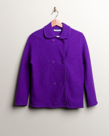 Vintage Wool Purple Jacket