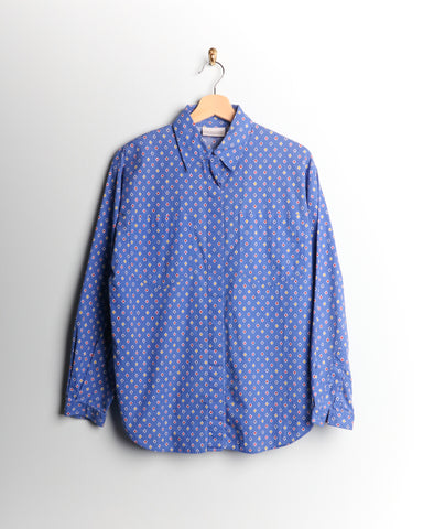Vintage Diamond Blue Buttondown
