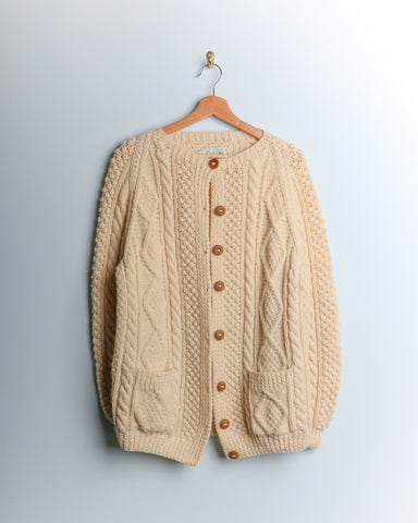 Vintage Irish Wool Cardigan