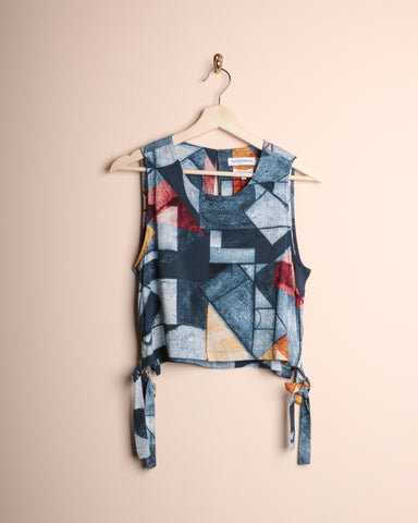 Native Youth Printed Side Tie Top