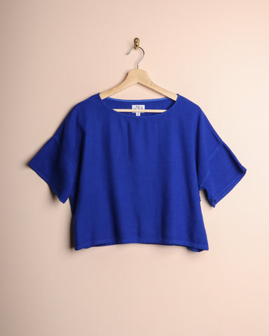 Me & Arrow Drop Shoulder Tee Cobalt