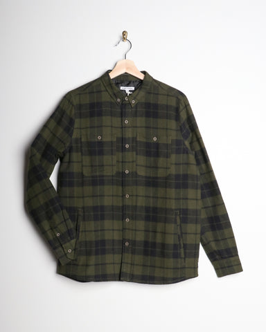 Banks Momentum LS Button Down Shirt Olive