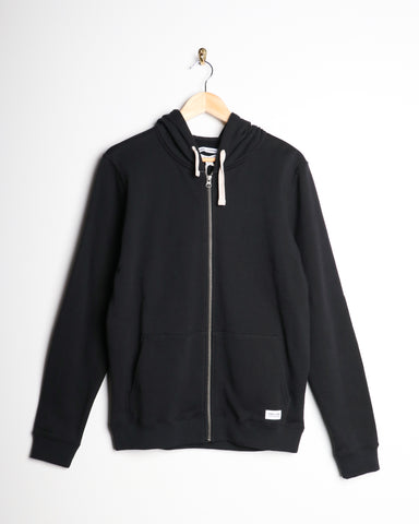 Banks Deluxe Zipper Fleece Dirty Black