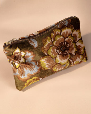 Leeward Velvet Zipper Pouch