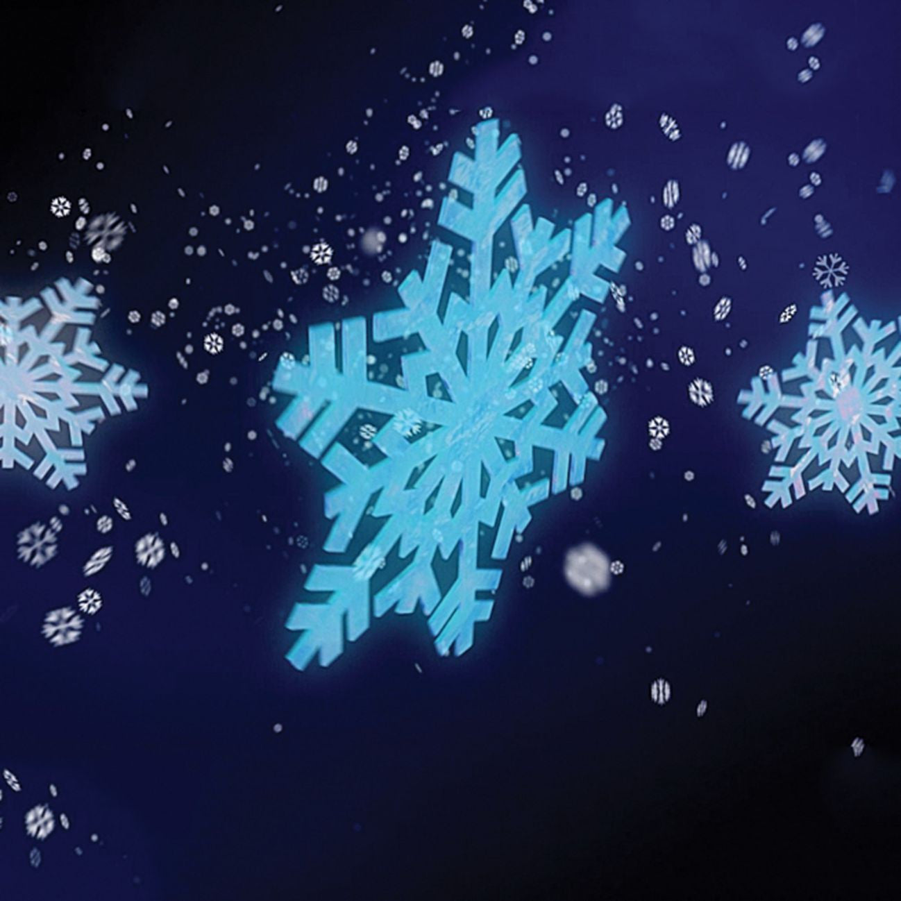 snowflake projector lighting