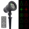 Pattern Laser - Moving 5 Pattern Laser with Remote - Night Stars Landscape Lighting