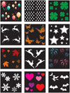 Accessory - Replacement Slides for Holiday Charms – LED 12-Pattern Motion Projection Light - Night Stars Landscape Lighting