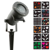 LED Pattern Light - Holiday Charms – LED 12-Pattern Motion Projection Light - Night Stars Landscape Lighting