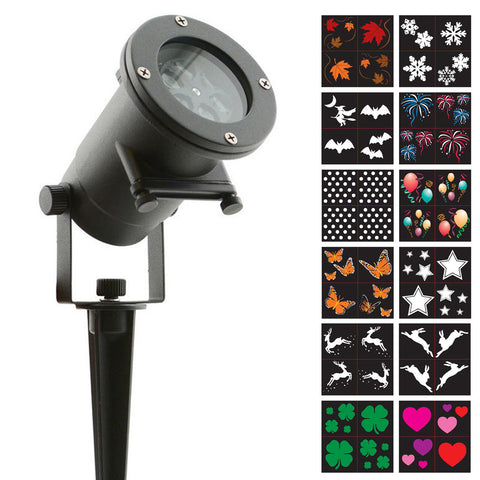 Holiday Charms – LED 12-Pattern Motion Projection Light
