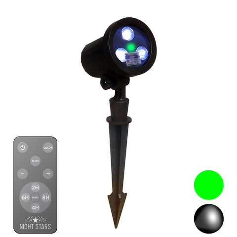 Laser Lights - Green Laser, LED Spotlight with Remote - Night Stars Landscape Lighting