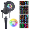 LED Pattern Light - Multicolor LED 12-Pattern Motion Projection Light - Night Stars Landscape Lighting