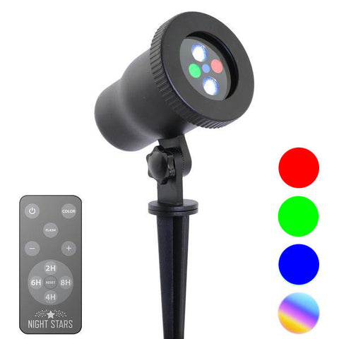 Red, Green, LED Spotlight with Remote