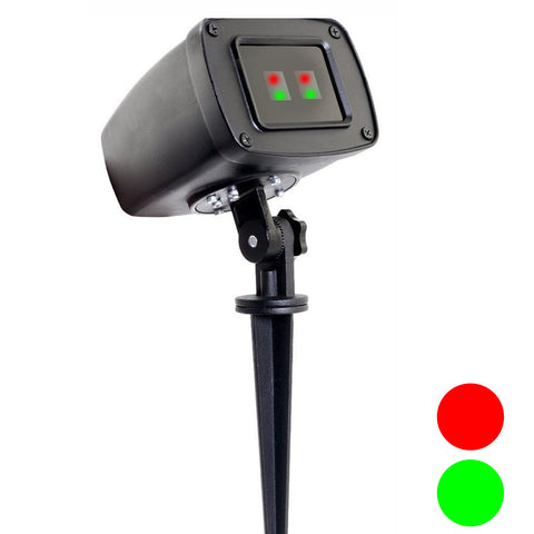 Laser Lights - Double Coverage – Red & Green Laser - Night Stars Landscape Lighting