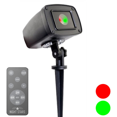 Laser Lights - Red & Green Shimmer Laser with Remote - Night Stars Landscape Lighting