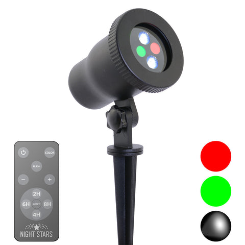 Red, Green, LED Spotlight w/ Remote