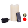 Laser Candle - 6 Inch Rechargeable Wax Laser and Flickering LED Candle - Night Stars Landscape Lighting