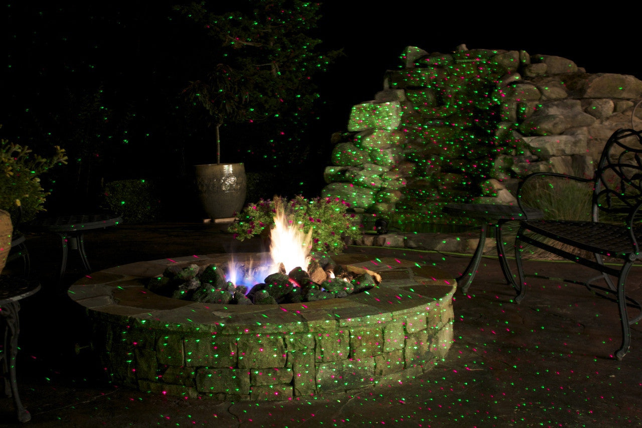 Laser Lights - Red & Green Moving Kaleidoscope Laser with Remote - Night Stars Landscape Lighting