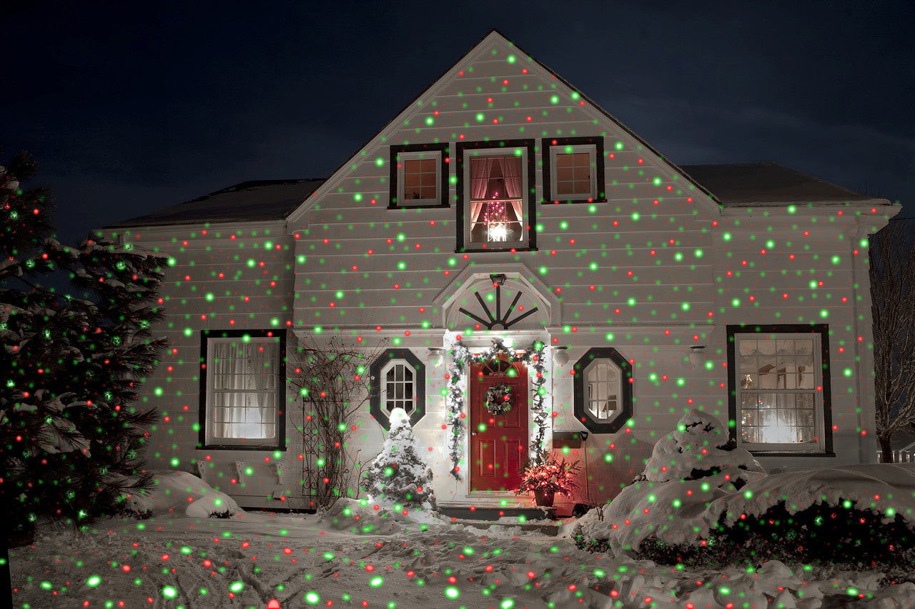 Red Green Led Spotlight With Remote Night Stars