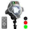 Red & Green Laser - Red & Green Laser with Moving LED Snowfall with Remote - Night Stars Landscape Lighting