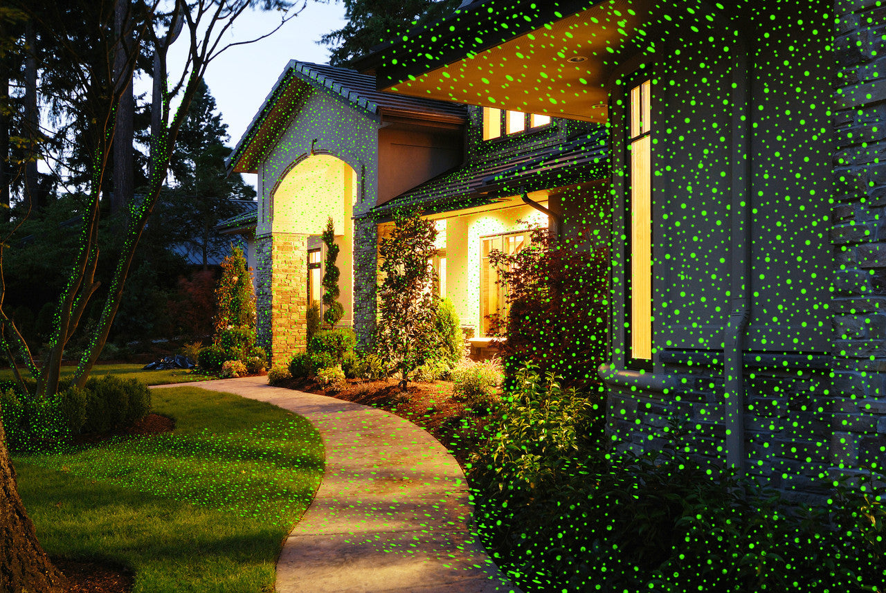 Laser Lights - Red & Green Laser with Remote - Night Stars Landscape Lighting